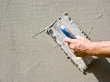Особенности цементной штукатурки