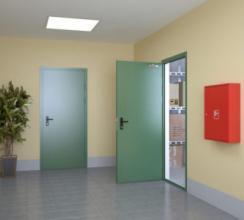 Особенности и назначение противодымных дверей